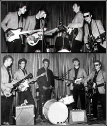 Five Beatles - Paul McCartney, John Lennon, George Harrison, Stuart Sutcliffe, Pete Best