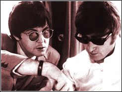 Paul McCartney and John Lennon
